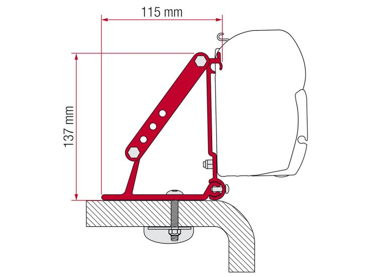 Fiamma F45 adapter Roof