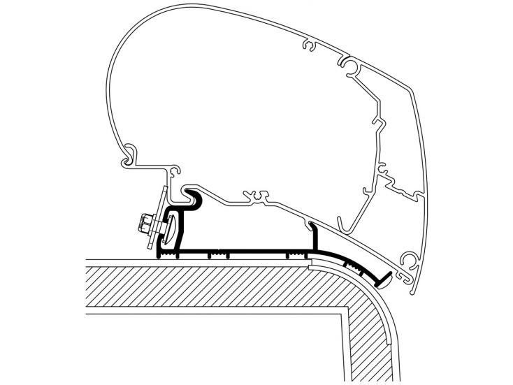 Thule Roof adapter Hymer 2013
