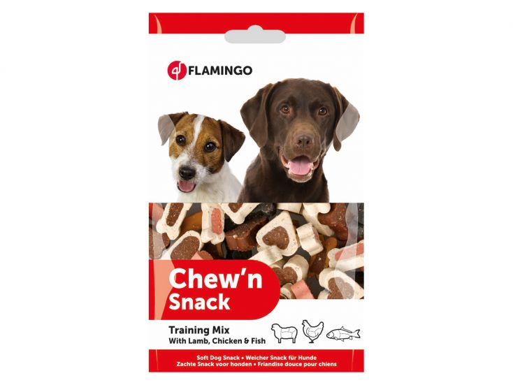 Flamingo Chew'N Snack Trainings mix hondensnoepjes