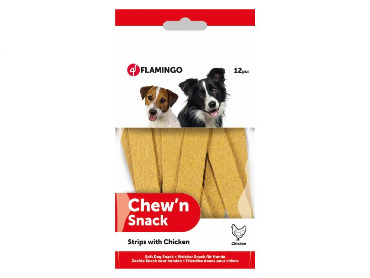 Flamingo Chew'N Snack Strips with Chicken hondensnack