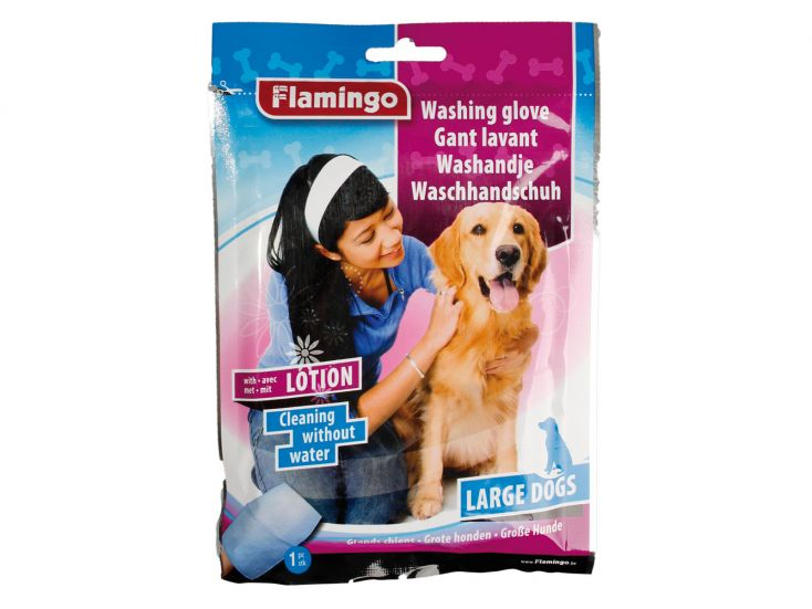 Flamingo washand met lotion