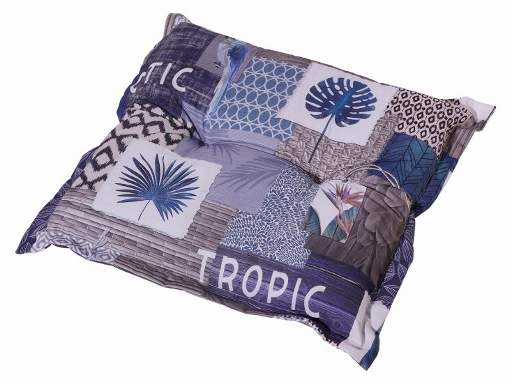 Madison Tropic Blue hocker kussen