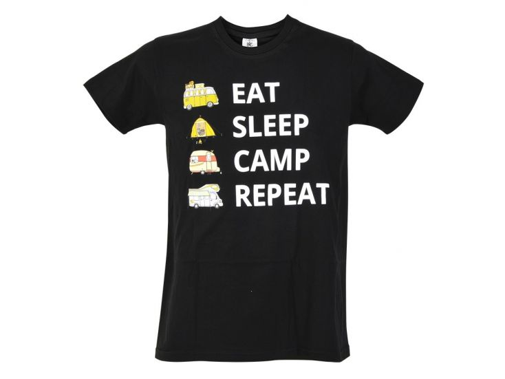 Obelink Eat Sleep Camp Repeat t-shirt