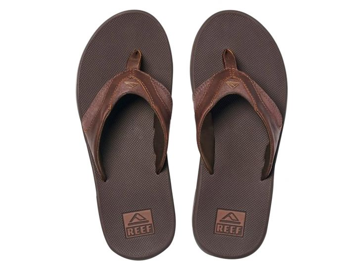 Reef Leather Fanning teenslippers